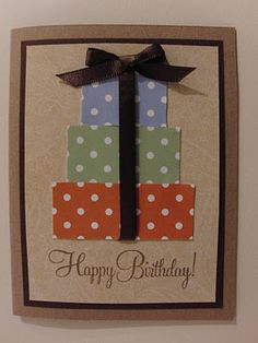Stampin up layered square birthday boxes or even christmas card stampin up layered square birthday boxes or even christmas card with mini ribbon bows cards pinterest cards birthdays and layering bookmarktalkfo Gallery