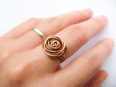 Wire-Wrapped Rose Ring