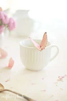 Craftberry Bush: Mothers Day Butterfly Tea Bag Tag...(I didn't even realize this was a craft!  I thought it was a porcelain tea cup and butterfly.  Love this project!)