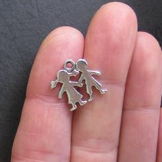 8 Boy and Girl Charms Antique  Silver Tone - SC034A by BohemianFindings on Etsy https://www.etsy.com/listing/80184613/8-boy-and-girl-charms-antique-silver