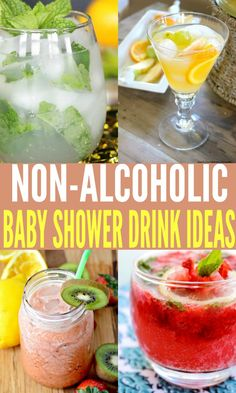 baby shower ideas, baby shower drinks, non-alcoholic drink ideas, #baby #pregnancy #babyshower #babyshowerideas #drinks #nonalcoholic #partydrinks #mocktails #kidfriendlydrinks