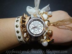 BeautyRedefined by Pang: White and Gold Arm Candy Featuring My New A|X Watch