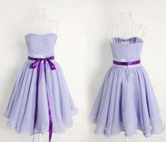 light purple dress with bow