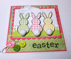 Easter Bunnys With Cotton Tails Handmade by LoveInBloomCreations, $3.25