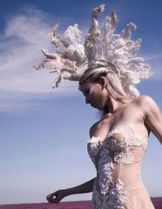 Mohawk Burning Man Mohawk Wedding Headdress Lace