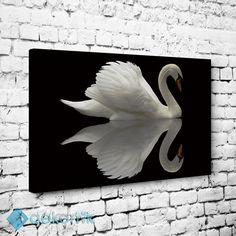 Beyaz Kuğu ve Yansıma Tablo #kanvas_tablo #siyah_beyaz_tablolar #siyah_beyaz_kanvas_tablolar