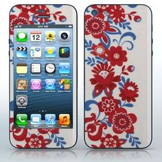 Poland Folklore  Red and blue flower pattern  phone skin sticker for Cell Phones / Apple iPhone 5/5G | $7.95