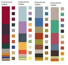 Vivid Winter/The Earthy Philosopher Colours extracted from paintings by Matisse