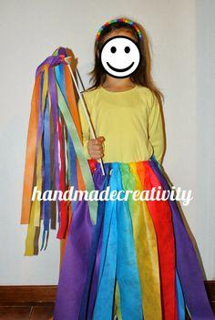 Carnevale 2014: la fatina arcobaleno by Handmade  - rainbow fairy costume DIY/tutorial