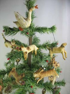 Feather Tree Ornaments by arbutus hunter, via Flickr