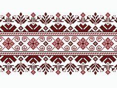 Illustration about Vector illustration of ukrainian folk seamless pattern ornament. Illustration of crissold, handicrafts, border - 38546614 Cross Stitch Borders, Cross Stitch Designs, Cross Stitch Patterns, Embroidery Stitches, Embroidery Patterns, Palestinian Embroidery, Square Canvas, Artisanal, Handicraft