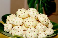 Jazz up store bought meringues to match your party colors