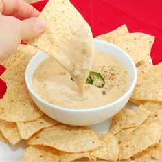 Queso Blanco Dip  Ingredients:   ■1 lb white American cheese (I used Boar's Head White American)   ■2 (4 ounce) cans diced green chilies, undrained   ■½ to 1 cup heavy cream, depending on thickness of dip you like   ■1 teaspoon cayenne pepper, or to taste   ■1/2 jalapeno, seeded and minced   ■3 tablespoons salsa   ■Tabasco sauce to taste
