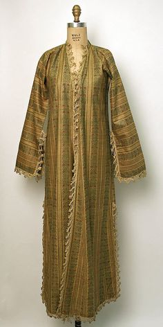Robe  Date:     late 19th–early 20th century Culture:     Turkish Medium:     cotton