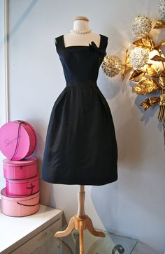 50's Dress// Vintage 1950's Little Black Cocktail by xtabayvintage, $398.00