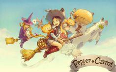 Dans le monde d'Hereva, une sorcière de Chaosah est censée être maléfique et terrifiante. Mais la jeune apprentie Pepper est tout sauf cela. Avec son compagnon le chat Carrot, elle n'a pas vraiment la vie d'une étudiante modèle : elle s'aventure de bêtise en bêtise et s'occupe à fabriquer des potions loufoques comme la potion « fou rire » ou la potion « vie en rose ». Un petit air de Kiki la sorcière, made in France ! (suite sur le blog)
