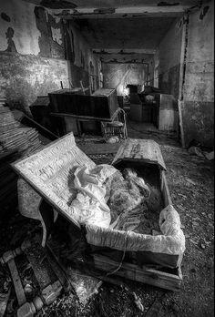 Abandoned mental hospital, abandoned souls.
