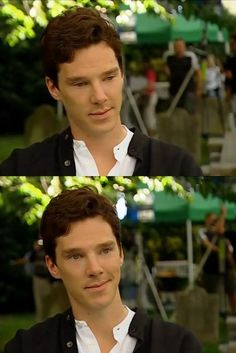 Benedict Cumberbatch- I feel like he is channeling Flynn Ryder... And here comes the smolder...