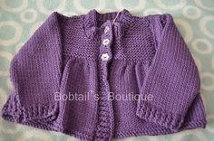 Girls Cotton Cardigan Matinee Jacket Style 2 by BobtailsBoutique