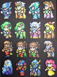 Final Fantasy 4 Main Cast by IAmArkain.deviantart.com on @deviantART