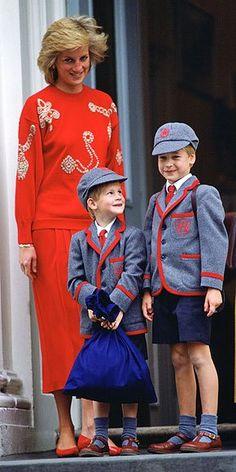 William et Harry - Wetherby school , le 11 septembre 1989