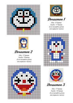 Doraemon hama perler beads pattern