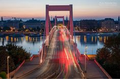 """When the sun goes slowly down in Budapest. 💜 by Polinszky Tibor"""" Golden Gate Bridge, Budapest, Sun, Travel, Trips, Viajes, Traveling, Outdoor Travel, Tourism"""