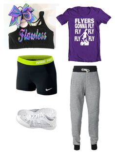 """Cheer practice outfit!"" by melissa-unicorn on Polyvore"