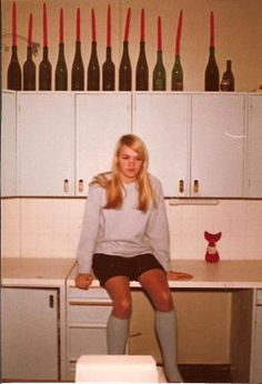First year art student Laina Koskela, Helsinki, 1967.