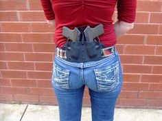 Two Keltec guns double carry firearms Freaking awesome chic holster.