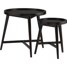 Set of 2 Hudson Round Nesting Tables in Accent Tables | Crate and Barrel