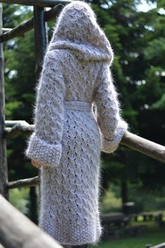 MADE to ORDER hand knitted mohair coat handmade cardigan mohair hoody chunky knitted coat mohair cardigan hooded mohair sweater by Dukyana by Dukyana on Etsy