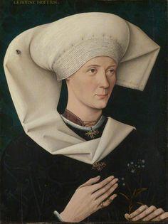 ab. 1470 German (Swabian) School - Portrait of a Woman of the Hofer Family