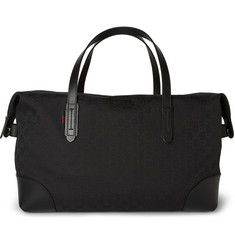GucciLeather-Trimmed Canvas Holdall Bag