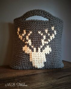 Crochet Chunky Deer Tote | MB Stitches