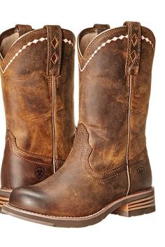 Ariat Unbridled Roper (Distressed Brown) Cowboy Boots - Ariat, Unbridled Roper, 10015374-200, Footwear Boot Western, Western, Boot, Footwear, Shoes, Gift, - Street Fashion And Style Ideas