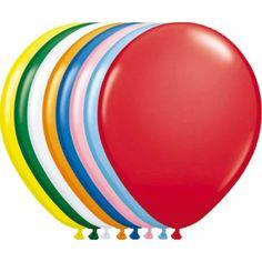 Zakje met verschillende gekleurde ballonnen.