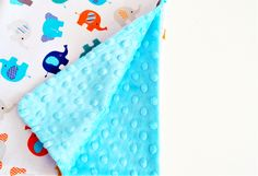 """Kolekcja """"Słonie"""" wykonana z najwyższej jakości bawełny premium oraz oryginalnego minky Shannon Fabrics."""