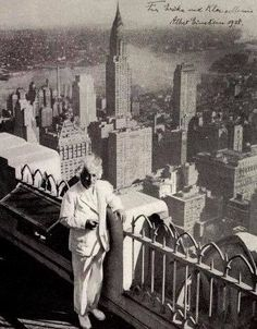 Albert Einstein, on  The Rockefeller Observation Deck  'Exiled into Paradise' • 1938
