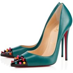 Christian Louboutin ❤ liked on Polyvore featuring shoes, christian louboutin, christian louboutin shoes and geometric shoes