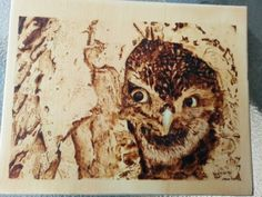 Pyrography with watercolor by Paul Jupp