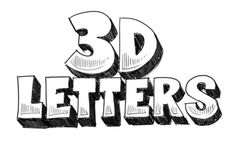 How to Draw 3D Letters for PosterBoard projects