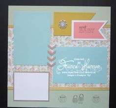Baby' We've Grown Stampin' Up! Stamp Set. Baby layout - Page 1