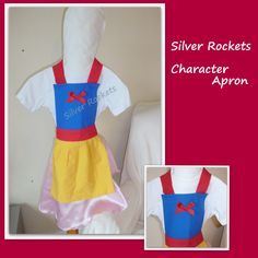 Princess apron - Snow white inspired age 3-5 - The Supermums Craft Fair