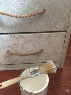 Tuneo de un archivador a una pieza de aire marinero con Saltwash, cuerda y stencils