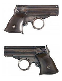 """Remington Elliot """"Zig Zag"""" pocket revolver, circa It was chambered for a short cartridge, and there were less than a thousand made. Derringer Pistol, Revolvers, Rifles, Guns And Ammo, 2 Guns, Fire Powers, Old West, Zig Zag, Firearms"""