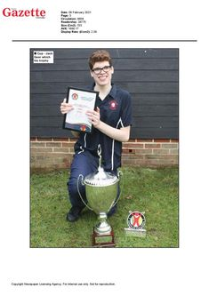 Jack Greer wins 2020 Panathlon Jack Petchey Outstanding Achievement Award for London and Essex - featured in the Colchester Gazette Awards, Display, London, Floor Space, Billboard, London England