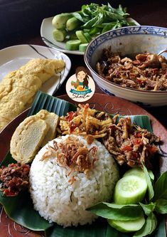 Indonesian Food Traditional, Indonesian Cuisine, Asian Cooking, Easy Cooking, Cooking Recipes, Tasty Rice Recipes, Baked Rice, Porridge Recipes, Asian Recipes