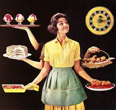 I have this cookbook the illustration is from! Sunset Magazine golden anniversary cookbook
