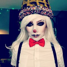 Soda Jerk! Inspired by my favorite look by @mattvalentine616 on FaceOff! He's so fucking good!!!! #sodajerk #icecreamman #clownmakeup #halloween #halloweenideas #halloweenmakeup #halloweencostume #halloweenmakeupideas #halloweencostumeideas #candymakeup #candyman #makeup #upclose
